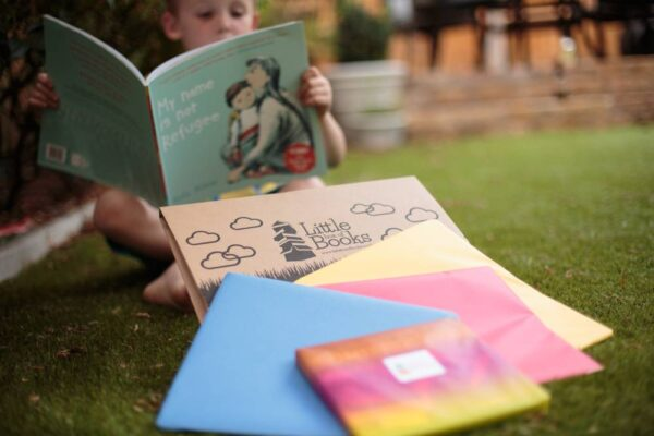 Children reading inclusive books