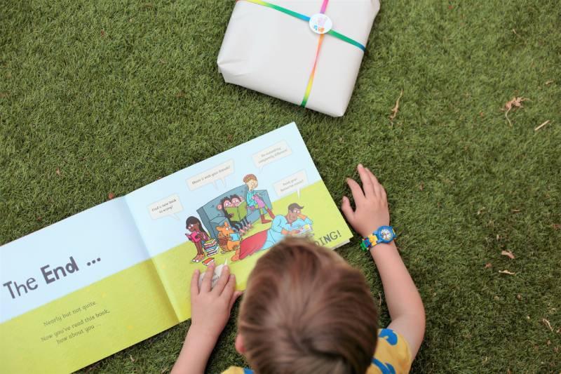 Child reading inclusive children's books