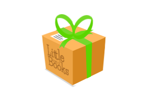 Little Box of Books green ribbon
