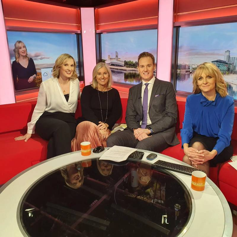 Lynsey appearing on BBC Breakfast to talk about diverse books