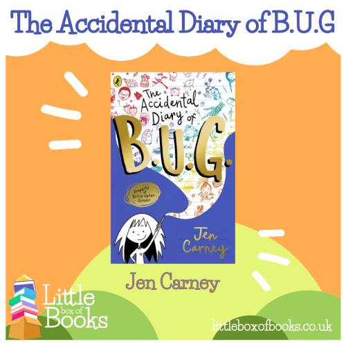 The Accidental Diary of Bug, book cover by Jen Carney. A book that is a child's diversity and covers family diversity, LGBTQ relationships and teaches children to accept who they are