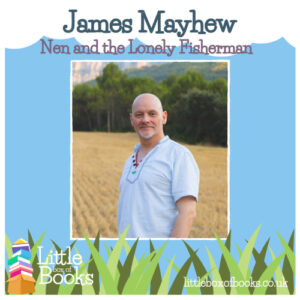 A picture of Illustrator James Mayhew who has created the LGBTQ love story Nen and the Lonely Fisherman with author Ian Eagleton