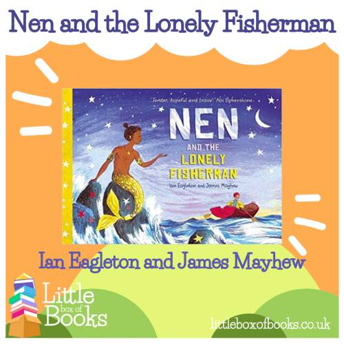 The book cover of Nen and the lonely fisherman. An LGBTQ love story of merman and underwater adventuring. Showing how diverse our lives all are.